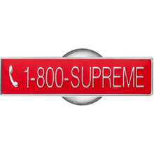 Supreme 1-800 Pin Red (NEW)