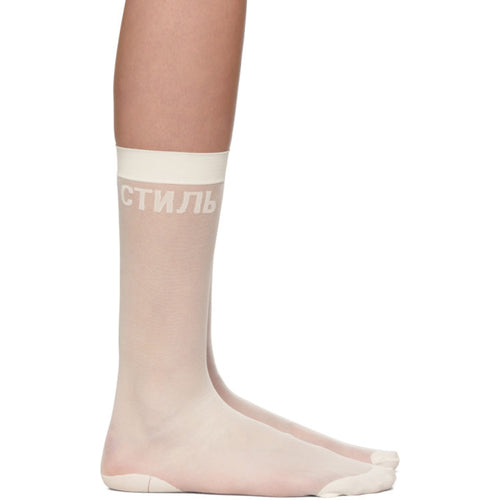 Heron Preston Long Sheer Socks (MINT)