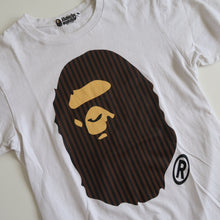 Bape Striped Ape Head Tee (Small / USED)
