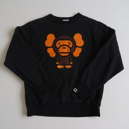 Bape x Kaws Baby Milo Sweatshirt (Medium / USED)