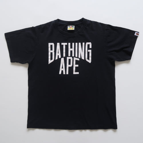 Bape Bathing Ape Text Tee (Medium / USED)