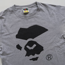 Bape Mad Ape Face Tee Grey (Large / USED)