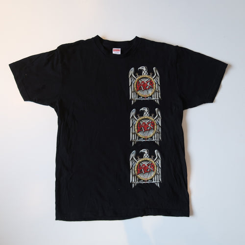 Supreme x Slayer Eagle T-Shirt Black (Large/ USED)