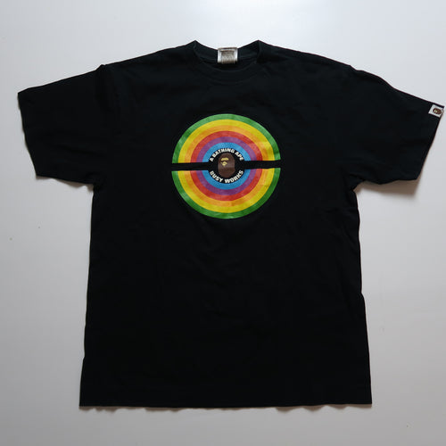 Bape Rainbow Ape Head Tee (Large / USED)
