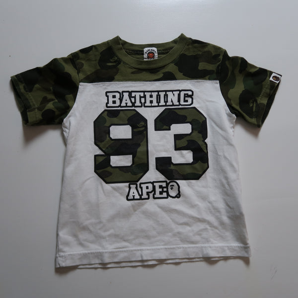 Bape Kids Green Camo Tee (120 cm / USED)
