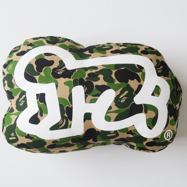 Bape x Keith Haring Green Camo Pillow (USED)