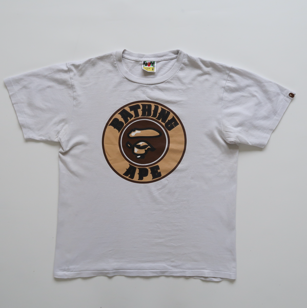 Bape Round Ape Face Logo Tee (Medium / USED)