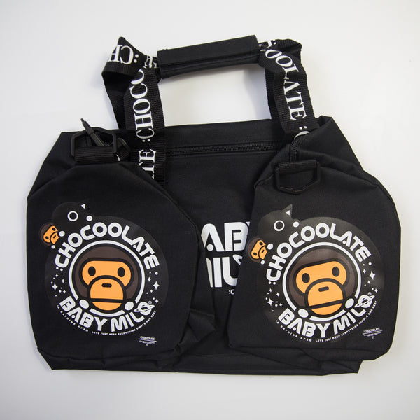 Bape Baby Milo Chocoolate Space 3 Way Duffle Bag (NEW)