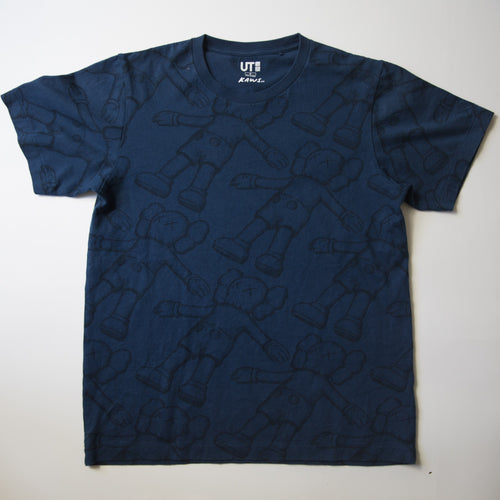 Kaws x Uniqlo Holiday Companion Tee Navy (Small / USED)