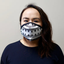KAMIK PATTERN FACE MASK (WHITE)