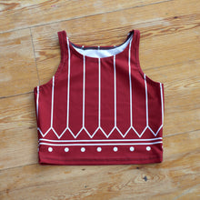 PINSTRIPE KAKINNIIT CROP TOP