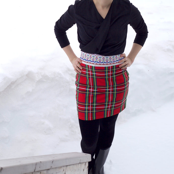 AVITTAT AMMA PLAID SKIRT