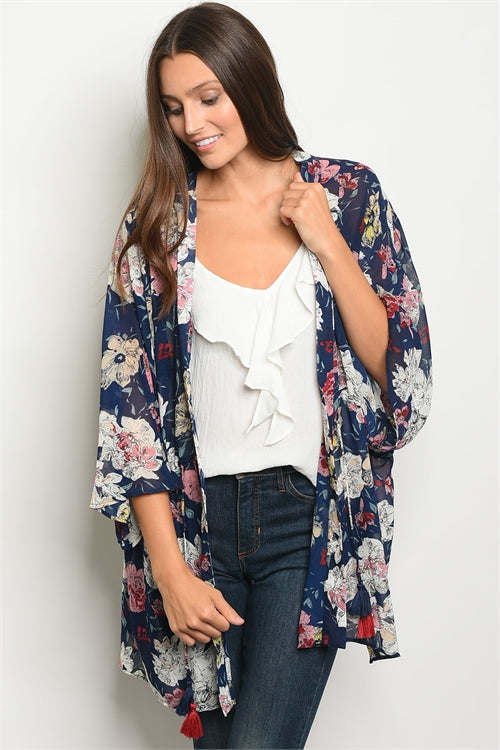 774392bff Navy Floral Kimono – Summer Matters Boutique
