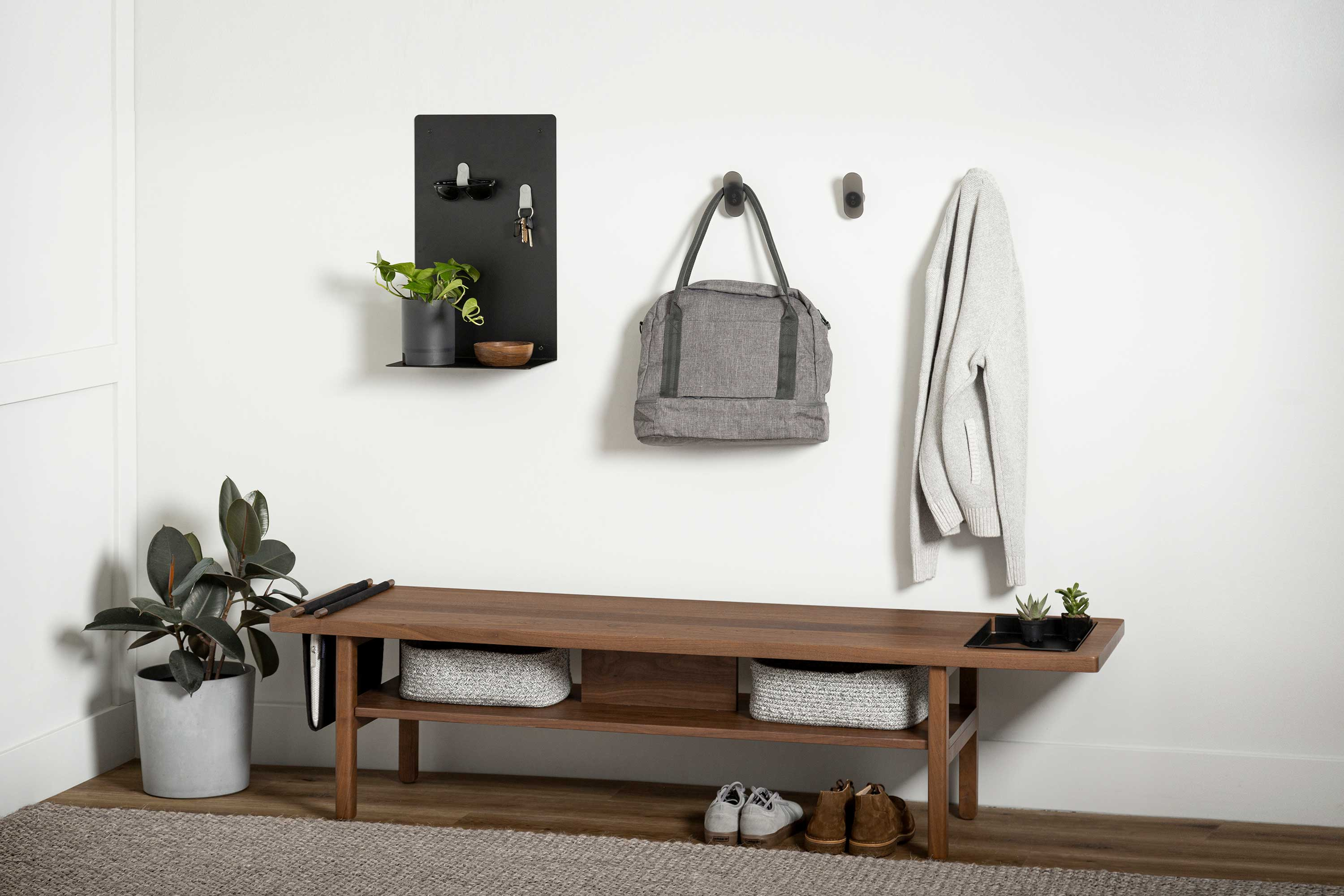 Elevated and organized entryway
