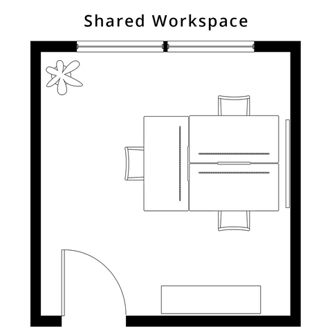The Best Desk for a shared workspace