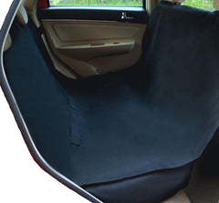 A dark colored dog seat cover in a car | Bubu Brands