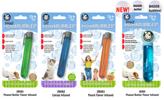 Four packages by Petqwerks of incredibubbles in bright colors | Bubu Brands