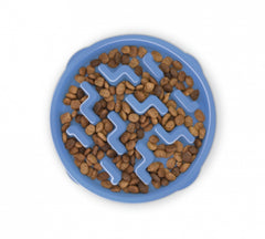 A dark maze bowl with dog food in it | Bubu Brands
