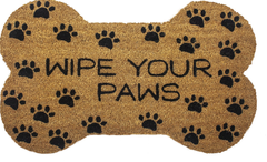 "15 Perfect Gifts to get a Dog Lover | ""Wipe Your Paws"" Bone Shape Doormat, 18x30"