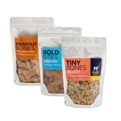 ANY THREE  DRY DOG TREATS<BR>9% OFF! - BUBU BRANDS
