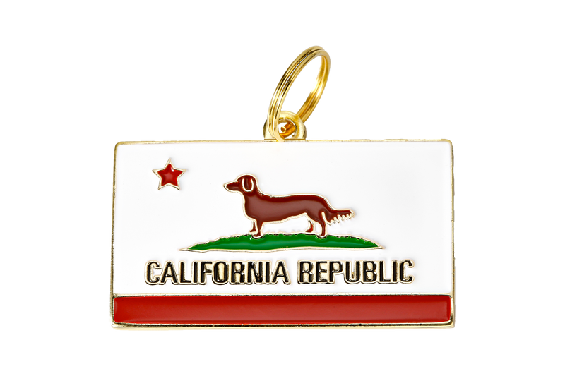California Republic</br>Enamel Charm/ID Tag</br>Engraved - BUBU BRANDS