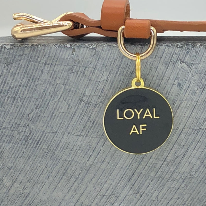 Loyal AF</br>Enamel Charm</br>Not Engraved</br>Black - BUBU BRANDS