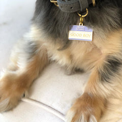 Hello My Name is Good Boy</br>ENAMEL CHARM/ID TAG</br>Engraved - BUBU BRANDS