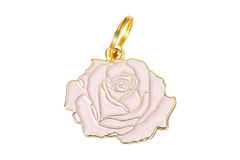 Rose</br>Enamel Charm</br>Not Engraved - BUBU BRANDS