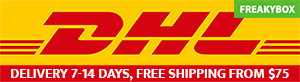 Freakybox delivery times: 7-14 days via DHL, FREE SHIPPING FROM $75
