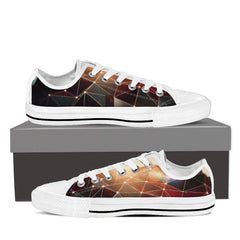 Mind-Blowing 2017 Design Canvas Low Top - Women Black/White - Freakybox