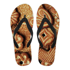 BAKERY LOVERS Flip Flops Black/White - Freakybox
