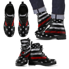 Thin Red Line Leather Boots