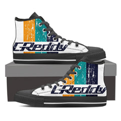GReddy Unique Design Men's High Top Black / White - Freakybox