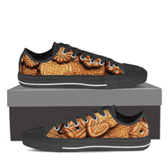 BAKERY LOVERS Canvas Print Low Top Black/White - Freakybox