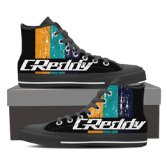 GReddy Unique Design Women's High Top Black / White - Freakybox