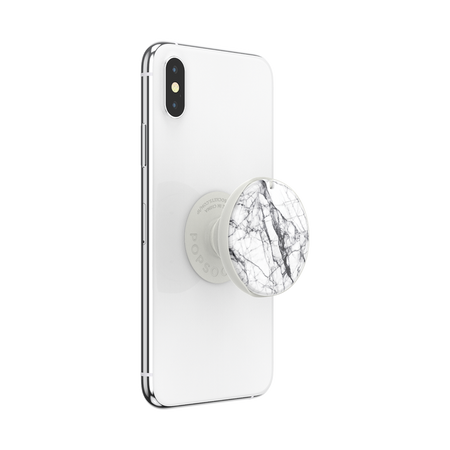 White Marble PopGrip Mirror