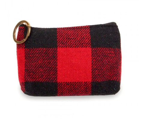 Plaid Coin Purse/Keychain