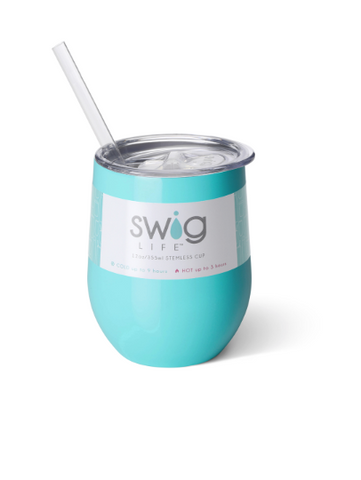 Swig Wine Cup 12oz Ocean Blue