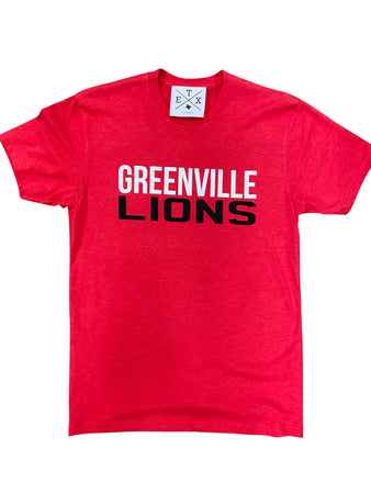 Red Greenville Lions Tee