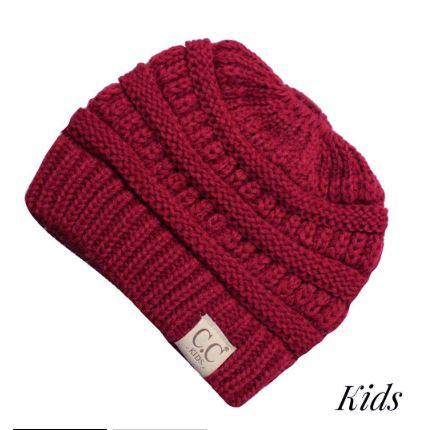 Kids CC Beanie Messy Bun(more colors available)