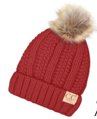 Kids Single Pom Beanie(more colors available)