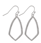 Silver Metal Drop Earrings