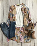 Taupe Multi Colored Duster