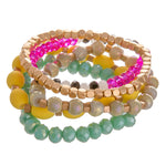Yellow Beaded Stackable