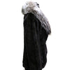 "36"" Sophisticated Sculptured Mink Silver Fox Shawl Collar  #125"