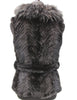"24"" Black Ranch Knitted Mink Vest Black Two Tone Tanuki Fur Shawl Collar Belt 350"