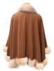 "25"" Bronze Cashmere Cape Blend with Crystal Fox Boarder 798"