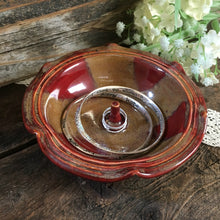 Antique Red Stoneware Ring Holder with Altered Rim - Say Your Piece!