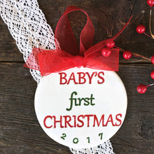 Baby's First Christmas - Dated Ornament - Say Your Piece!