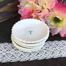Tiny Biscuit Cross Communion or Baptism Favor Dishes - Say Your Piece!